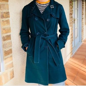 Express Teal Trench Coat
